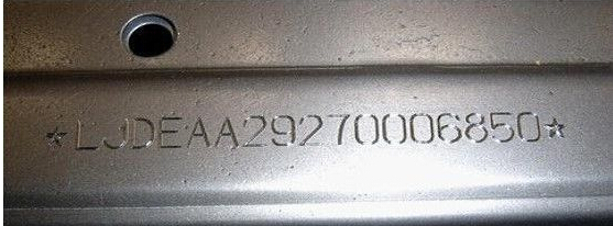 Auto Serial Number Engraving Machine For Chassis Number