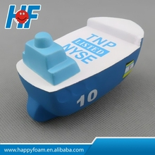 pu promotional cheap gifts boat stress toy