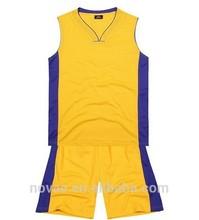 Camisas de Jersey del baloncesto diseño 100% poliéster de punto Jersey tela imprimir su nombre del equipo