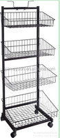 Modern art metal display stand / retail store stand / grocery shelf for sale