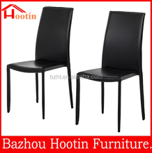 2015 latest design modern design cheap black leather dining chair