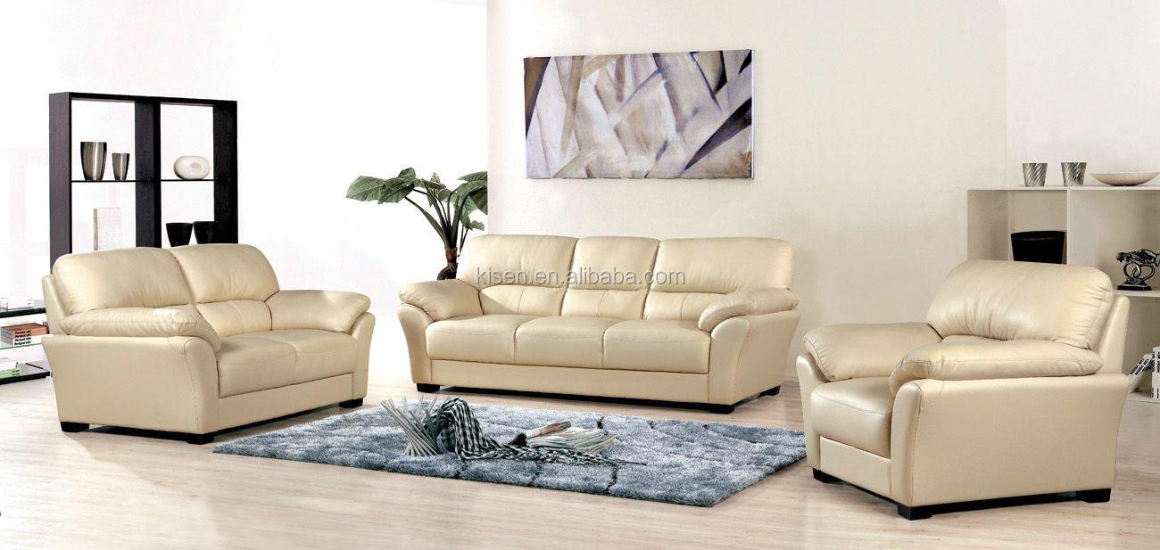 Kg973 hoofd verstelbare moderne woonkamer meubels leren bank ...