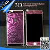 3D curved full screen cover color tempered glass screen protector for iphone6