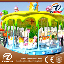 kids new amusement park happy candy rides 12 seats carousel