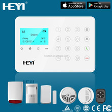 wireless IPHONE / ANDROID APP burglar gsm residential alarm systems