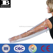 Promotional customized inflatable full arm air splint OEM plastic portable emergency soft vinyl arm splint