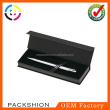 Nice book shape style custom printing paper pen box inner with tray insert