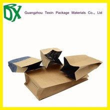 Food Industrial Use side gusset tea kraft paper bag lined with aluminum foil
