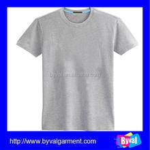 Plain short sleeve t shirts men o neck grey tshirt plain