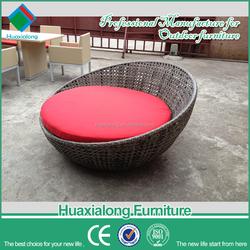 Outdoor furniture aluminium brown rattan beach sofa beds