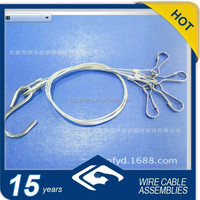 LED hanging kit/wire rope suspension kits with simplex hooks and S hooks