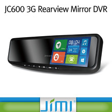 Jimi 3g wifi car stereo gps navigation 120 degree rear view mirror covert tracking devices