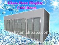 Glass door display cold room