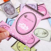 Flower aromatherapy air freshing paper sachet essential oil gift for car/bag/wardrobe/drawer/cloth