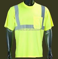High Quality Hi Vis Short Sleeve Polyester Safety T Shirt