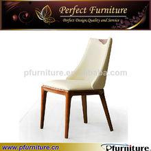tienda de café de madera tallada restaurante sillas de comedor silla de cuero comedor chairpfc41003