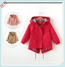 Fashion 2015 Kids Hooded jacket baby outwear clothes childern