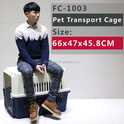 Cat Dog Travel Plastic Carrier , For Small & Medium Pet