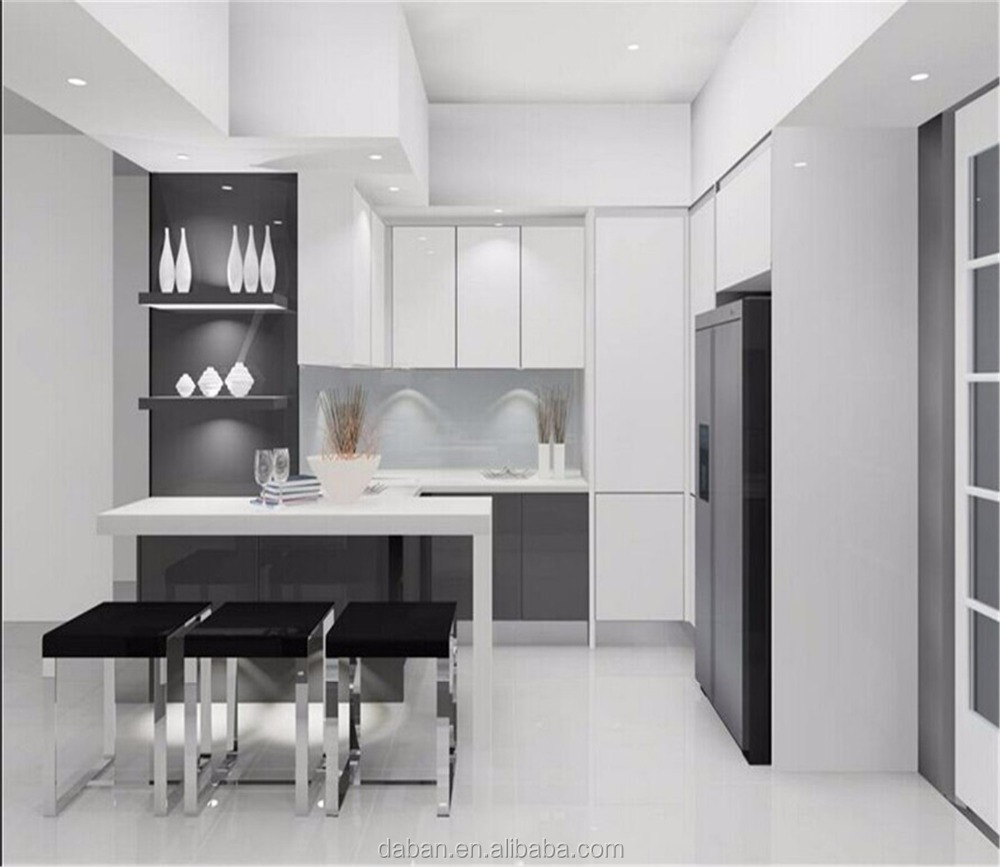 High quality popular new model kitchen furniture cabinet for New model kitchen images
