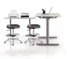 Swivel Adjustable Height Lab Stool