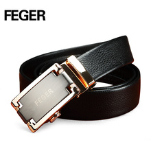 Wholesale High Quality Automatic Buckle Belt Brass Buckle Men's Leather Straps
