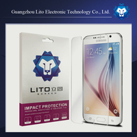 2015 new tempered glass screen protector for samsung s6 0.33mm 2.5D curved edge 9H hardness
