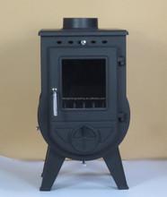 Cast Iron Glass Door Wood Burning Fireplace /Parts/ heating area 90-300sqm