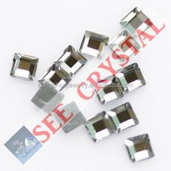 flat back crystal square hot fix epoxy