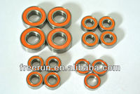High Performance NANDA RACING NRB-3 TRUGGY steel bearing kits with different rubber seal color