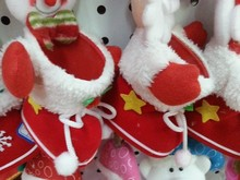 Santa Hat Christmas Mini 6 Inch Plush Light-up Musical Baby Toy socks pendant