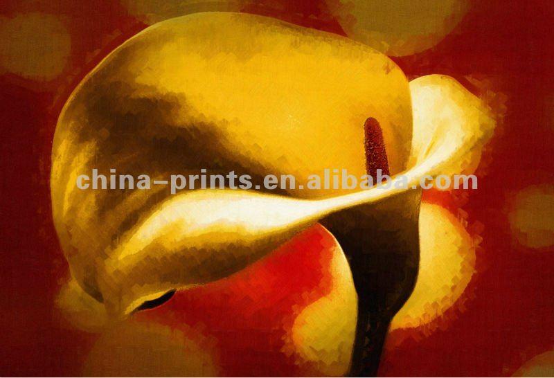 Artista pintó fauna pinturas. Impresiones de la lona