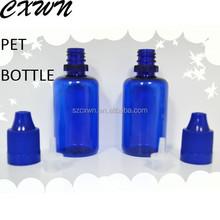 Hot Sale PET Injection Blowing 30ml E-vapor Oil Stopper Bottle 50ml Empty Plastic Oils Bottle with Childproof Cap