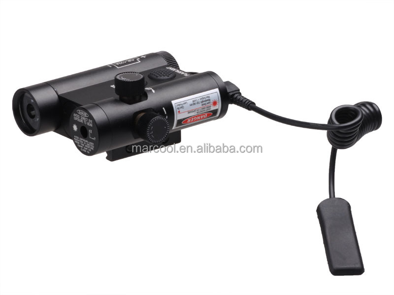 HY3212 Flashlight LF-3RLED Flashlight and Red Laser Integration with Weaver Mount  Remote Switch (3)