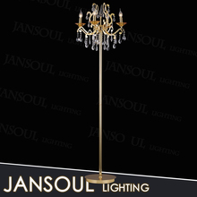 chinese floor lamps manufacturers vintage crystal chandelier floor lamp with CE certificate