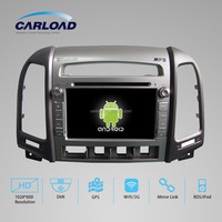 Android system hyundai santa fe car dvd gps navigation TV radio aux USB/SD blue& me reversing camera