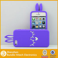 New design silicone 3D rabbit case for iPhone 5,cute design case for iPhone 5