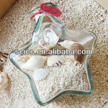 wholesale star shaped cheap glass flower vials for sale