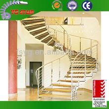 Yg 9003-10 curvo de madera para escaleras