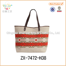 Zhenxin cotton jute bag with printing design for ladies