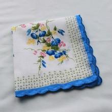 fashionable beautiful flowers printed handkerchief