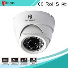 china whole sale 1.0MP 720P weatherproof dome 900tvl cctv camera rotating