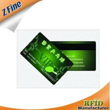 Cheap CMYK offset printed CPU Smart Card/pvc busniess card/plastic club card