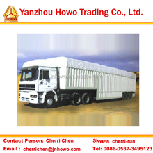 widely used with top fabric van semi trailer