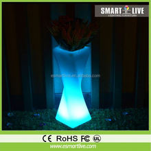 GR0880 Recyclable UV Stable LED Lighting Plastic Flower Pot/ Garden Planter