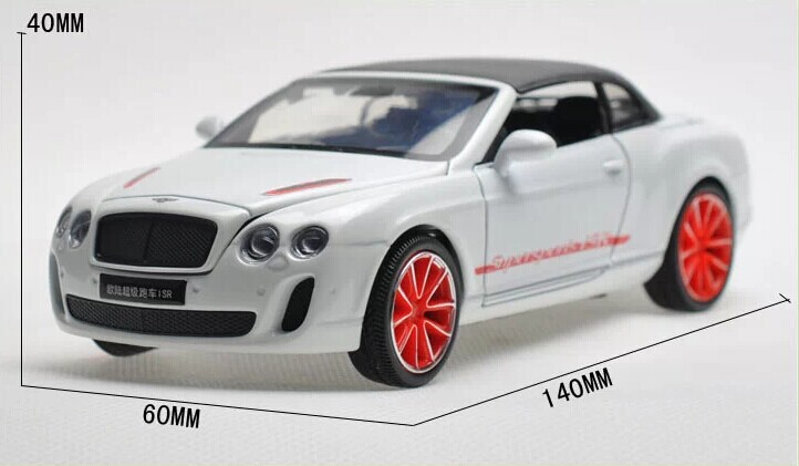 132 Alloy Diecast Car Model For Bentley Continental Supersports ISR with hood-25