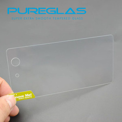 Pureglas Screen Cover For Sony, Best Raw Material Asahi Glass Screen Protector For Sony Z3 mini