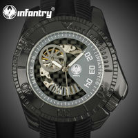 INFANTRY Men's Military Black Case Mechanical China Watch