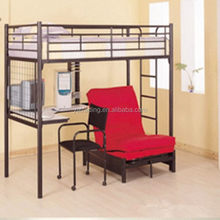 Excellent quality best selling round tube metal strong kids bunk bed