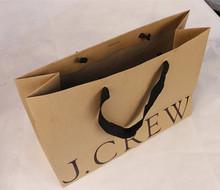 Black hot stamp brown kraft paper bags