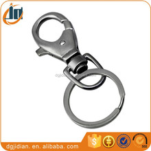 Best Promotional Gift Custom Cheap Metal Keychain With Swivel Chain